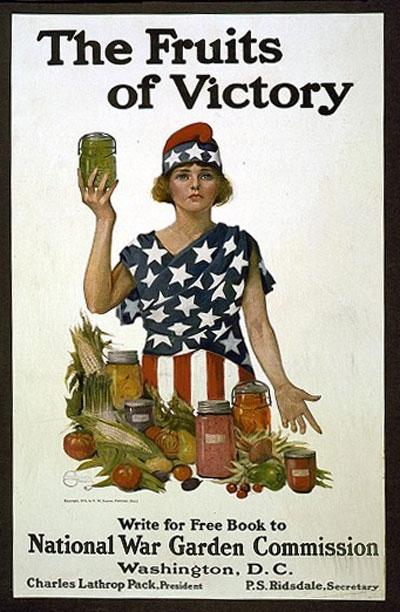 Vintage World War I Victory Garden poster.