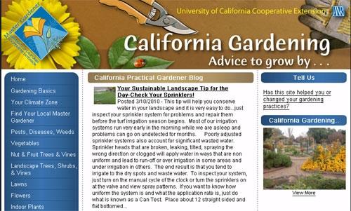 California Gardening Web site.