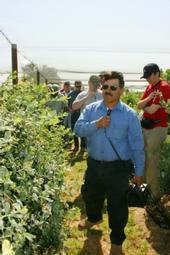 Manuel Jimenez at a previous blueberry field day.