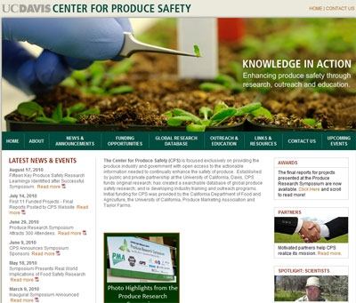 The UC Center for Produce Safety to receive substantial research funds from USDA.