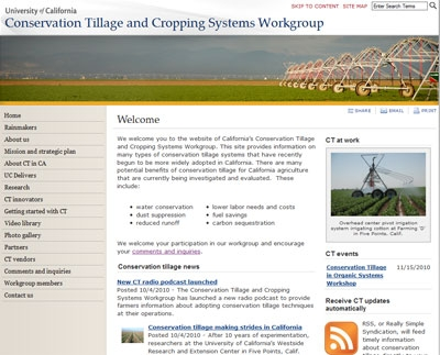 New conservation tillage website.