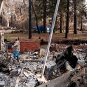 A Paradise resident surveys his home destroyed by the Camp Fire in Butte County. (Photo: 25th Air Force 25af.af.mil)