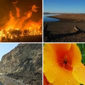 California's four seasons are fire, flood, mud and drought.