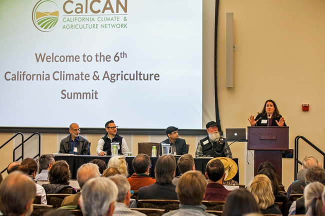 UCCE advisor Ruth Dahlquist-Willard speaks at the CalCAN Summit.