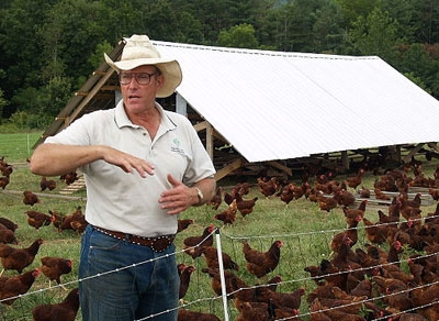 Nationally known farmer Joel Salatin is a keynote speaker at the local food conference.