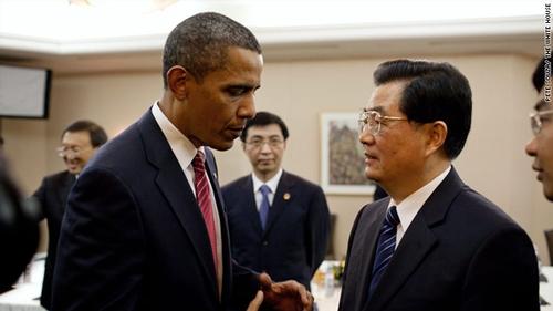 Chinese president Hu Jintau visited President Obama at the White House last week.