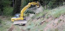 Excavator clears understory vegetation as part of a fuel break. (Photo: USDA) for ANR News Blog Blog