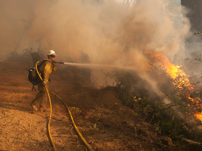 Defensible space makes fighting fire easier and safer for firefighters.