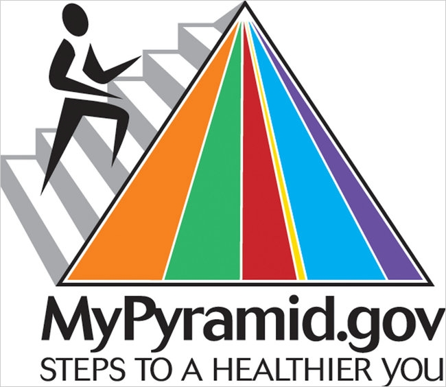 The familiar MyPyramid food guide image will be replaced with a new icon tomorrow.