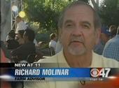 UCCE farm advisor Richard Molinar speaks about melon fly on the CBS Channel 47 news.