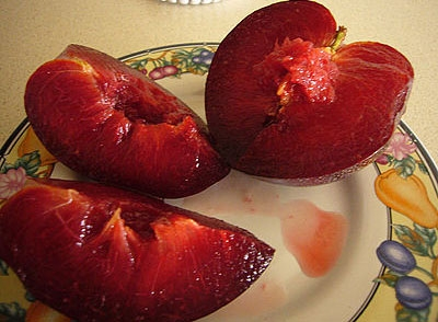 Pluot is a hybrid plum-apricot developed by Floyd Zaiger. (Photo: Wikimedia Commons)