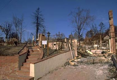 The California Fire Code  was modified after the Oakland Hills Fire and now includes regulations for defensible space and fire-resistent building materials.