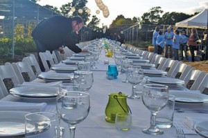 Chefs from area restaurants prepared a six-course dinner at the farm with ingredients grown in the Carmelitos garden for an October fundraiser.