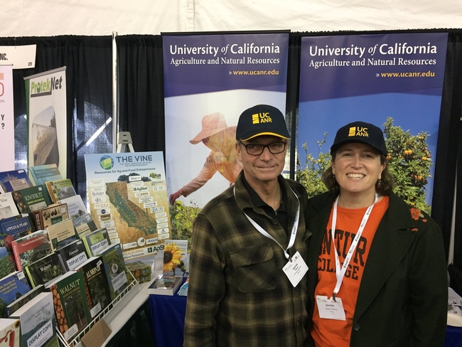 IPM advisor Kris Tollerup stopped by the booth.