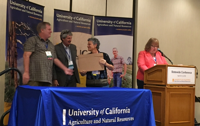 Cheryl Wilen, UC Cooperative Extension area integrated pest management advisor for San Diego, Orange and Los Angeles counties, won the Outstanding Leader award.