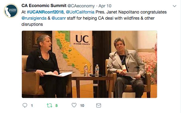 CA Econ tweet Napolitano