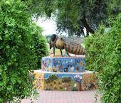 A ceramic/mosaic sculpture,