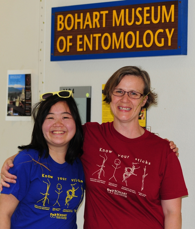 Ivana Li (left) and Fran Keller wearing their