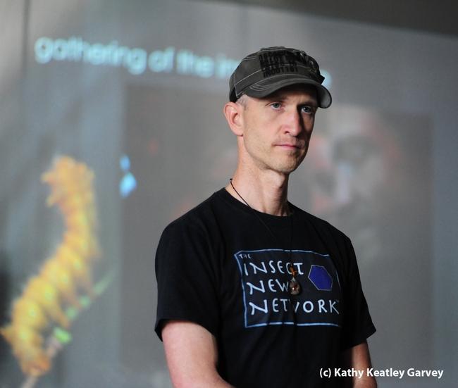 Emmet Brady is an innovator in the field of cultural entomology. (Photo by Kathy Keatley Garvey)