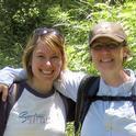 Illustrator Laine Bauer (left) and author Fran Keller.