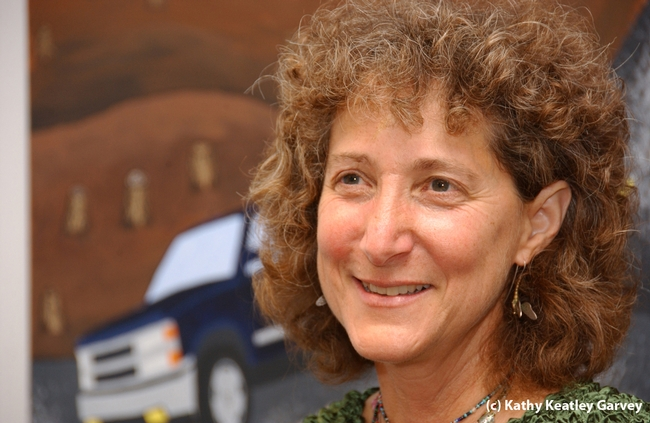 Diane Ullman, entomologist, artist and administrator. (Photo by Kathy Keatley Garvey)