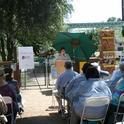 California state DAR regent Debbie Jamison addresses the crowd. (UC Davis photo by Chris Akins)