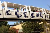 California dogface butterfly is illustrated on the California State Fair monorail. (Photo by Kathy Keatley Garvey)