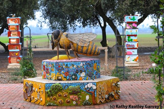 Worker bee sculpture,