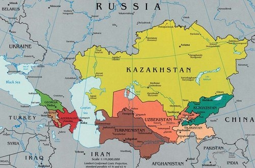 THIS MAP of Central Asia appears in a blog written by Joy Landis of Michigan State University's IPM Program. She's chronicling the IPM team's travels at http://www.ipmglobal.blogspot.com/