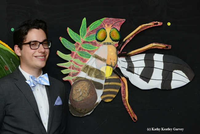 Entomology 01 student Eric Smith, majoring in biochemistry, titled his work on the walnut husk fly,
