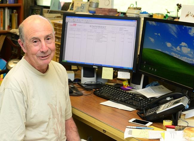 Professor Bruce Hammock in his office in Briggs Hall, UC Davis campus. (Photo by Kathy Keatley Garvey)