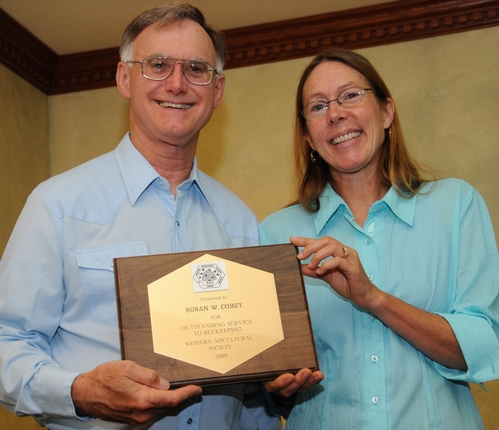 HIGH HONOR--UC Davis bee breeder-geneticist Susan Cobey receives the