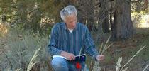Ecologist Rick Karban with sagebrush. for Bug Squad Blog