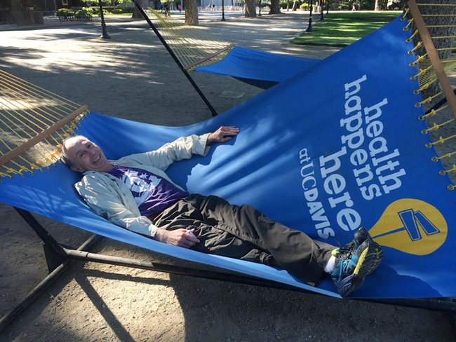 Bruce Hammock in a hammock--something you don't see often! (Photo by Cindy McReynolds)