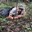 Myrmecologist Brendon Boudinot in the field. This was taken at the Southwest Research Station in the Chiricahua Mountains near Portal, Ariz., by Roberto Keller, National Museum of Natural History and Science, Portugal.