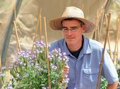 Pollination ecologist Neal Williams (shown) and several of his lab members will be participating in the Almond Field Days. (Photo by Kathy Keatley Garvey)