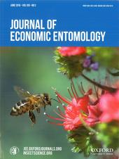Cover Girl! Cover of the Journal of Economic Entomology shows an image of a worker bee heading toward a tower of jewels, Echium wildpretii. (Photo by Kathy Keatley Garvey)