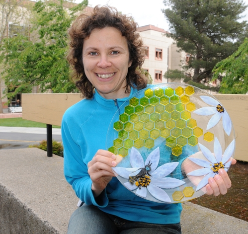 UC DAVIS SCIENTIST-ARTIST Olga Barmina will be showing and selling this work at the