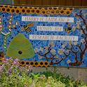This sign, fronting the Harry H. Laidlaw Jr. Honey Bee Research Facility at UC Davis, is the work of self-described