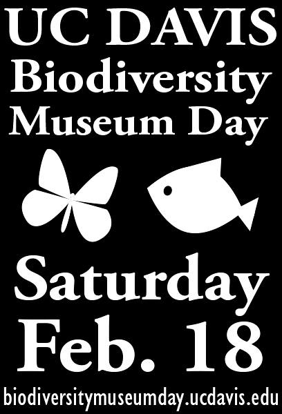 UC Davis Biodiversity Museum Day is Saturday, Feb. 18.