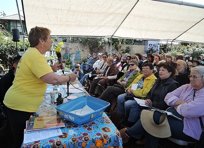 UC Master Gardener Suzanne Clarke of Sonoma County urges