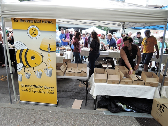 Owners of Z Specialty Food, Woodland, were as busy as well...bees. (Photo by Kathy Keatley Garvey)