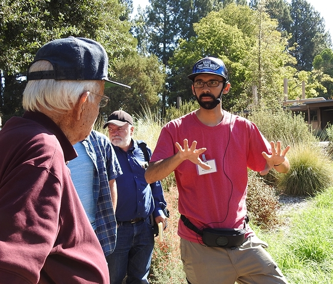 Entomologist Joel Hernandez led a butterfly tour last year at the UC Davis Arboretum. (Photo by Kathy Keatley Garvey)