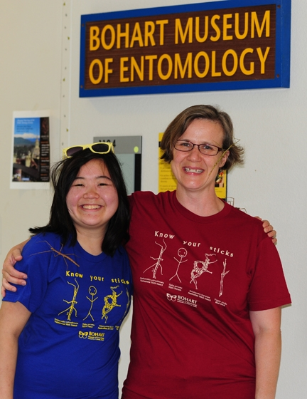 Matan Shelomi's colleagues, entomologists Ivana Li (left) and Fran Keller created this