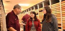 Bohart associate and butterfly expert Greg Kareofelas talks to Sacramento residents Amii Barnhard-Bahn and her daughter, Larkin, 15. (Photo by Kathy Keatley Garvey) for Bug Squad Blog