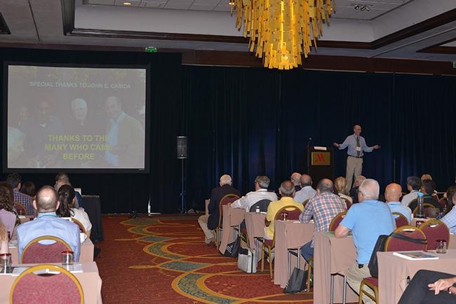Distinguished professor Bruce Hammock of UC Davis delivering his plenary seminar on