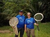 Professors Dave Wyatt and Fran Keller in Belize on their collection trip. They will be showing some of their insect specimens Saturday, Feb. 17 at the Bohart Museum of Entomology during the campuswide Biodiversity Museum Day. (Photo courtesy of Fran Keller)