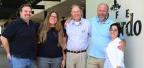 Brothers Craig and Lee Hazeltine recently honored Bill Hazeltine Research Award recipients Olivia Winokur and Maribel