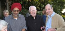 Distinguished professor John Casida (center) with his former graduate students Sarjeet Gill (left), a distinguished professor at UC Riverside, and Bruce Hammock, a distinguished professor at UC Davis. This image was taken in 2016 at UC Berkeley. for Bug Squad Blog