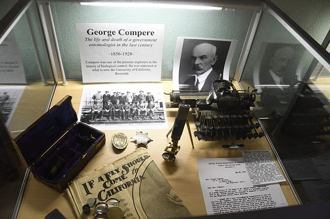 The Bohart Museum of Entomology is featuring a memorial exhibit showcasing a biological control pioneer, George Compere (1858-1928).